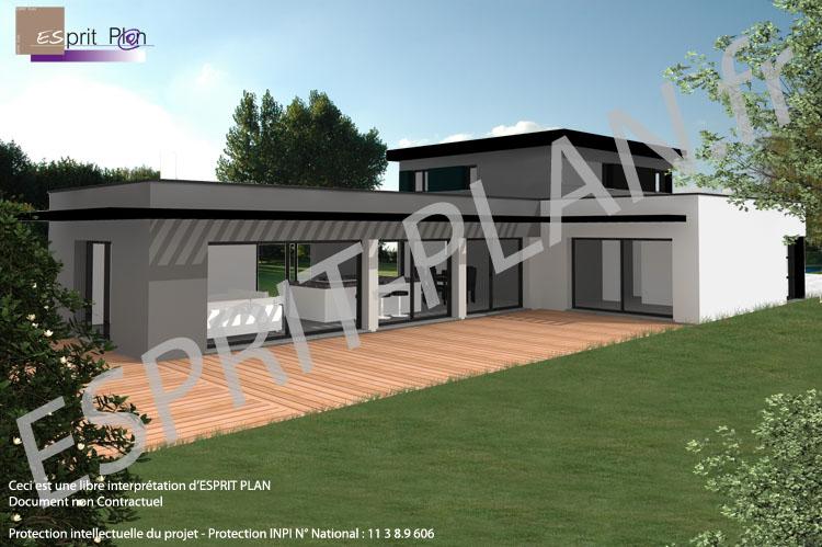 terrasse maison moderne plan maison moderne terrasse bruyere with terrasse maison moderne plan. Black Bedroom Furniture Sets. Home Design Ideas