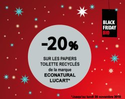 BLACK FRIDAY BIO PAPIER TOILETTE ECONATURAL LUCART