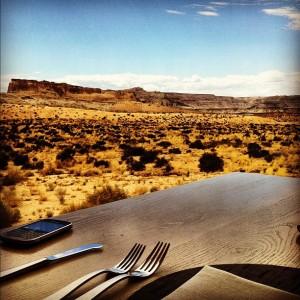 Déjeuner de bison dans réserve Navajo
