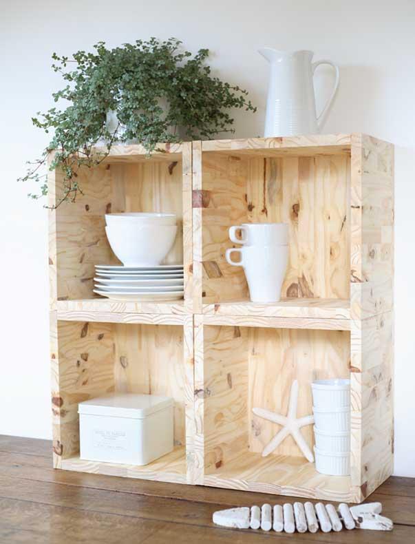 diy etageres cubes en bois esprit