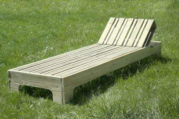chaise longue palette