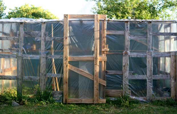 construire une serre en palettes