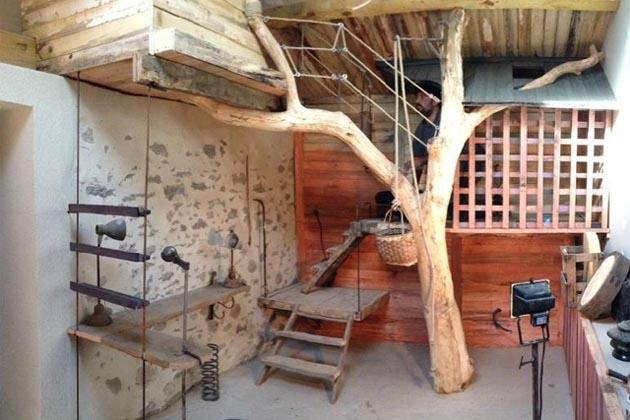 arbre entre dans la chambre esprit cabane