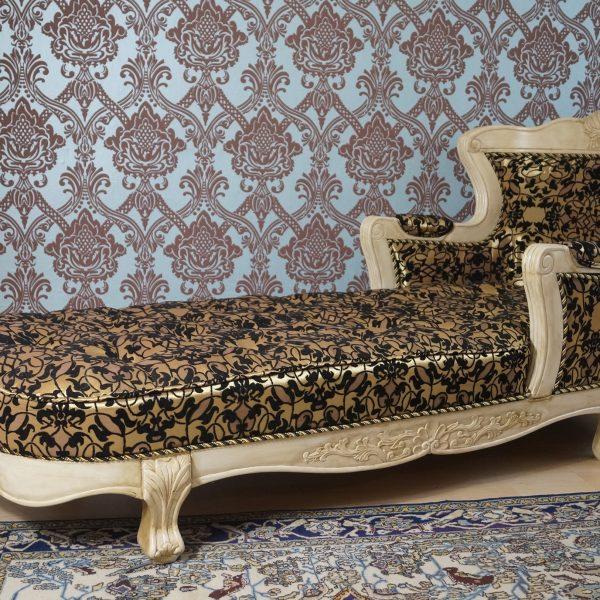 superbe meridienne chaise longue en bois massif beige siege unique