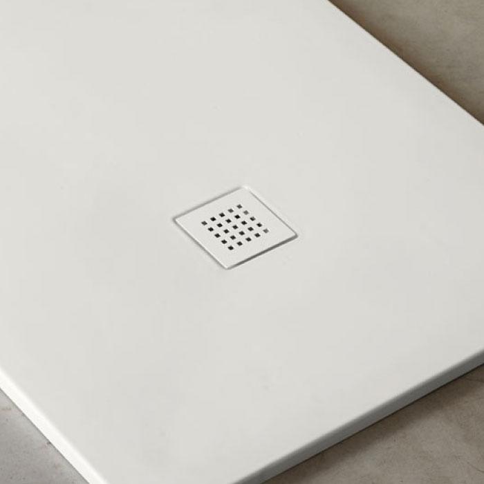 receveur douche rectangulaire blanc infinito extraplat 90 cm ceramique 4 longueurs