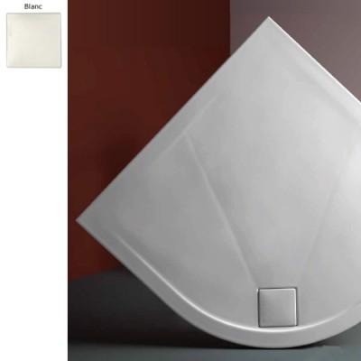 receveur douche angle rond blanc pluston extraplat ceramique 3 dimensions 80 100 cm