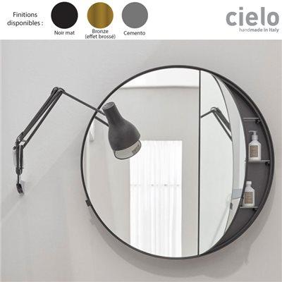 Armoire Toilette Miroir Design Rond 75 90 Cm Round Box Catini Cielo