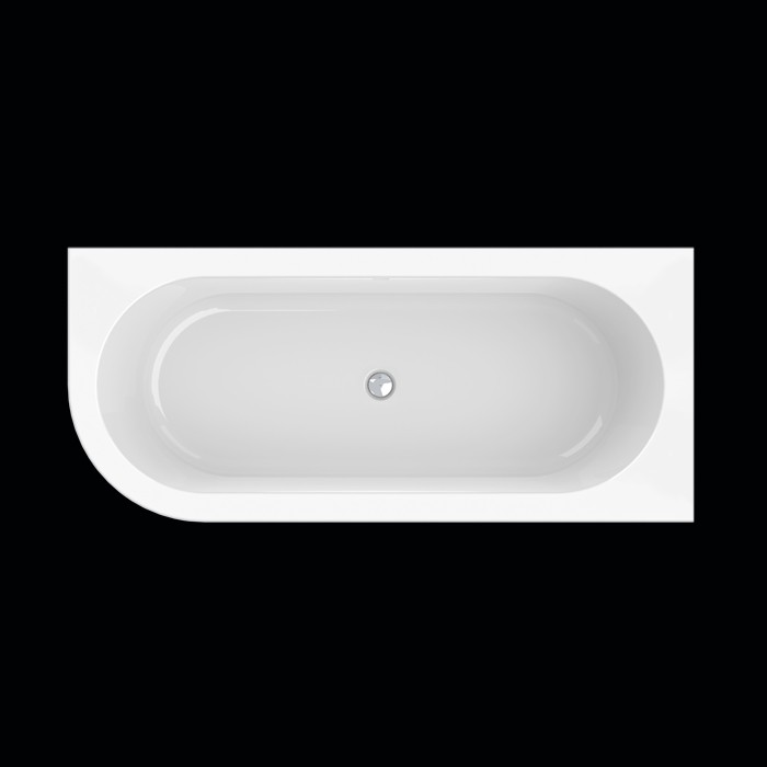 baignoire d angle a droite design wall corner l 178x78 cm