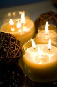 bougies de cire d'abeille