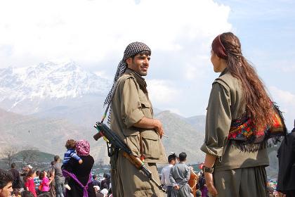 Guerrilheiros do PKK. Foto de Nora Miralles.