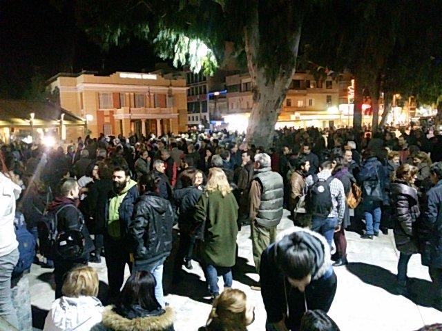 Manifestação em Iraklio, Creta