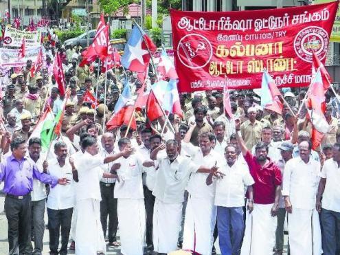 Os sindicatos acusam o governo de ameaçar o emprego. Foto de K.R.Deepak