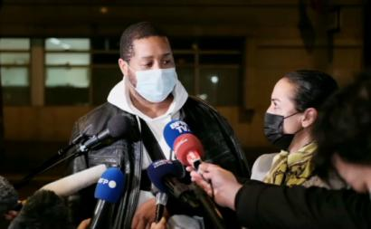 Michel Zecler e a sua advogada Hafida El Ali