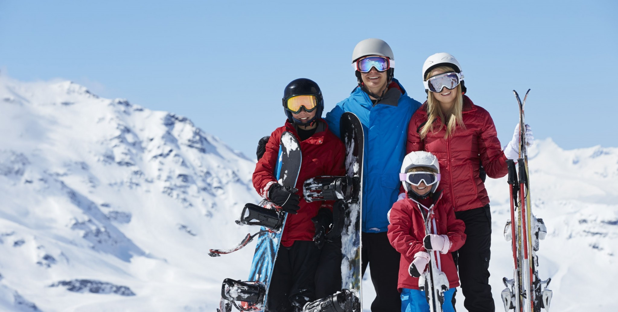Familia gafas de esquí