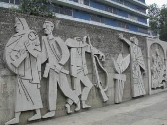 Murales de González-Goyri en Centro Cívico de la Ciudad de Guatemala.