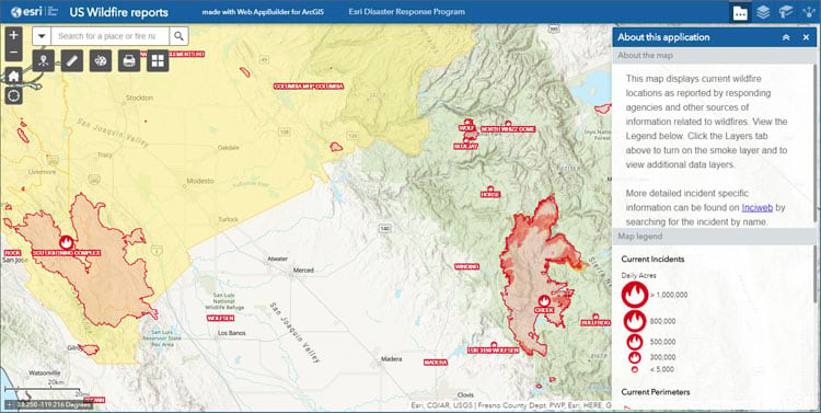 2021 usa wildfires live feed update. What S New In Arcgis Online September 2020