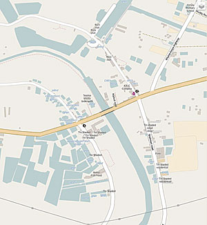 The same map after Khulna University students spent two days walking through this rural area of the Khulna District and added detailed information such as building types, the names of roads, and the location of fish ponds. © OpenStreetMap contributors