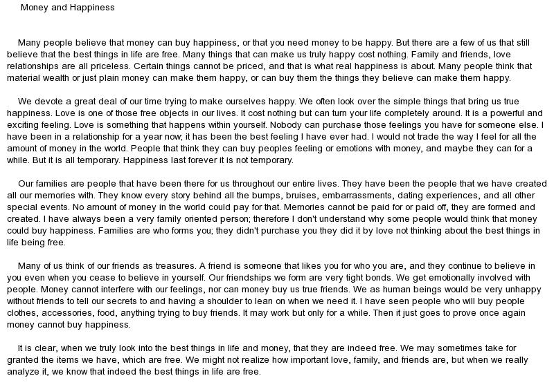 short essay on happiness