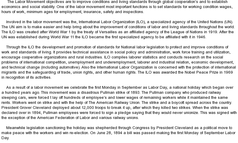 essay on workers day