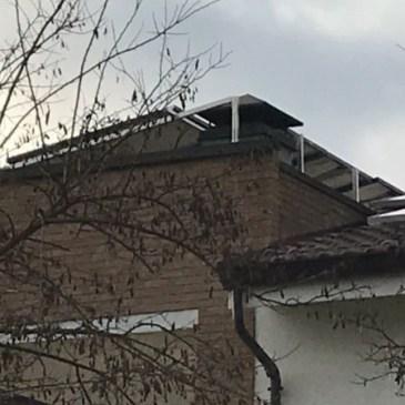 Impianto fotovoltaico 3 kw montato su terrazzo
