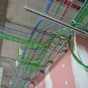 distribuzione elettrica a soffitto