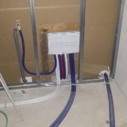 impianto idrico a pavimento