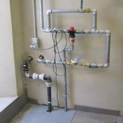 ingresso rete idrica con bypass depuratore