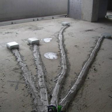 Distribuzione elettrica pavimento