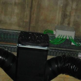 canalizzazione aria e distribuzione elettrica