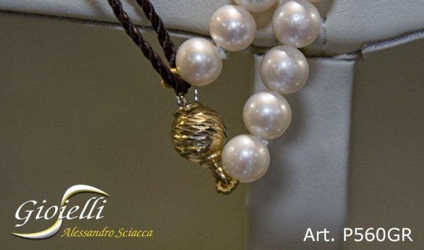 P560GR_2 - Girocollo in perle naturali acqua dolce