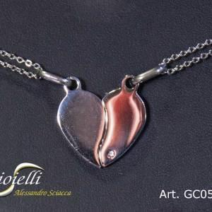 Girocollo in argento con pendente cuore