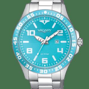Vagary Aqua39 IH3-110-41.Cassa e bracciale in acciaio. Fondo serrato a vite. WR 10 bar.