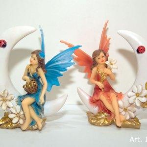 Fatine in resina colorata due soggetti assortiti