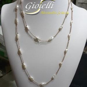 collana lunga in argento
