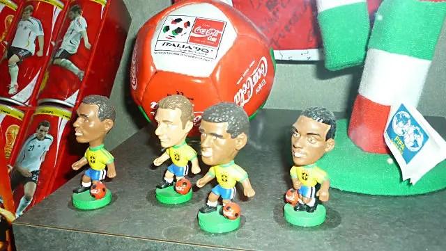 Super Mini Craques da Seleção Brasileiro no Museu da Coca Cola em Atlanta (Foto: Esse Mundo é Nosso)