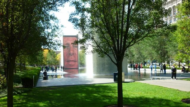 Crown Fountain no Millenium Park em Chicago (Foto: Esse Mundo é Nosso)