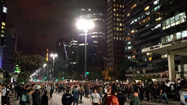 #vemprarua Manifestação em São Paulo (Foto: Esse Mundo É Nosso)
