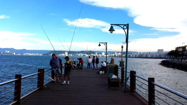 Deck do Pescador de Santos (Foto: Esse Mundo É Nosso)