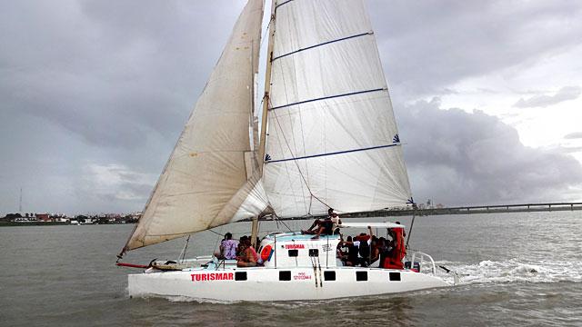 Barco para Alcântara, Maranhão (Foto: Esse Mundo É Nosso)