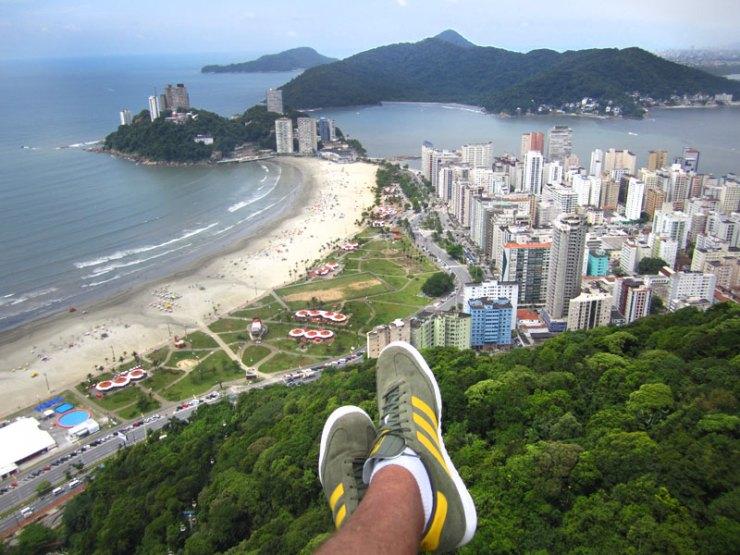 Voo de Parapente em Santos e São Vicente (Foto: Esse Mundo É Nosso)