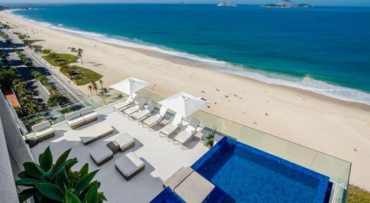 A piscina mais bonita do Rio - Praia Ipanema Hotel (Foto: Divulgação)