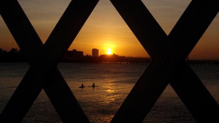 Pôr-do-sol em Fortaleza (Foto: Esse Mundo É Nosso)