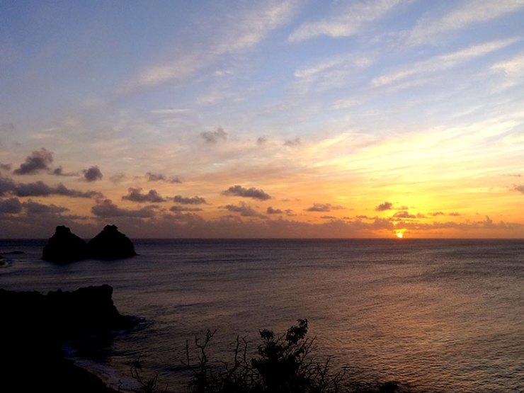 Pôr do sol no Forte do Boldró (Foto: Esse Mundo é Nosso)