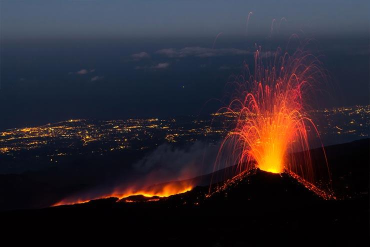 Cenários de Star Wars que existem de verdade - Vulcão Etna, Itália (Foto via Shutterstock)