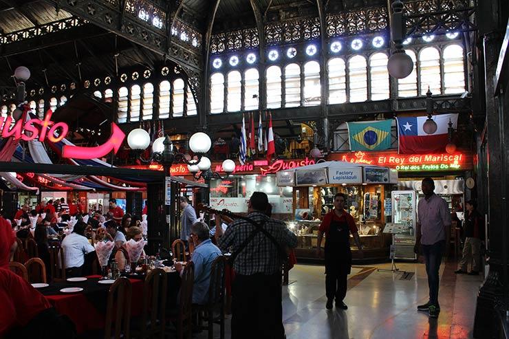 Mercado Central de Santiago do Chile (Foto: Esse Mundo É Nosso)