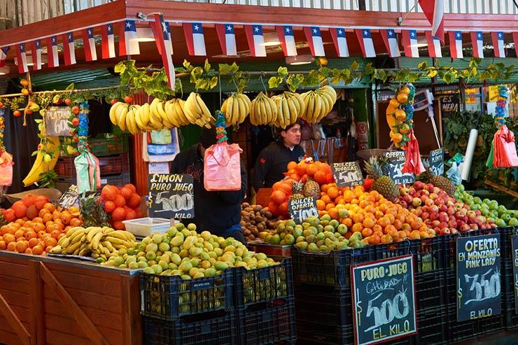 Mercado Central de Santiago do Chile (Foto via Shutterstock)