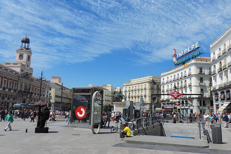 O que fazer em Madrid: Puerta del Sol (Foto: Esse Mundo É Nosso)