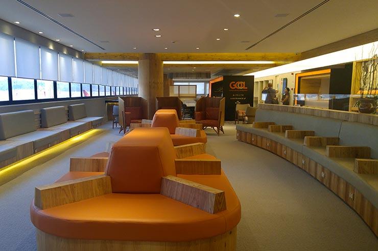 Sala VIP da GOL em Guarulhos - Voos Nacionais (Foto: Esse Mundo É Nosso)