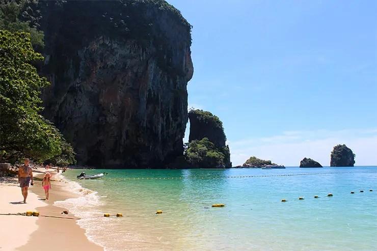 Phra Nang Beach em Railay, Tailândia (Foto: Esse Mundo É Nosso)