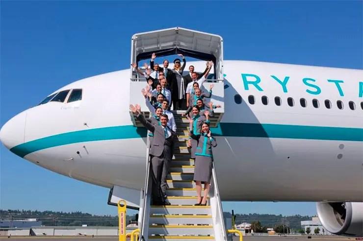 Crystal Skye, avião mais luxuoso do mundo (Foto: Reprodução/Facebook/Crystal)